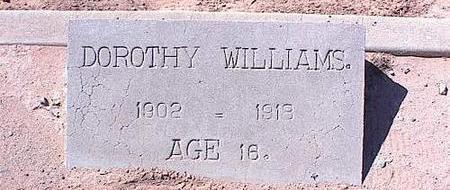 WILLIAMS, DOROTHY - Pinal County, Arizona   DOROTHY WILLIAMS - Arizona Gravestone Photos