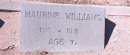 WILLIAMS, MAURINE - Pinal County, Arizona | MAURINE WILLIAMS - Arizona Gravestone Photos