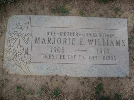 WILLIAMS, MARJORIE E. - Pinal County, Arizona | MARJORIE E. WILLIAMS - Arizona Gravestone Photos