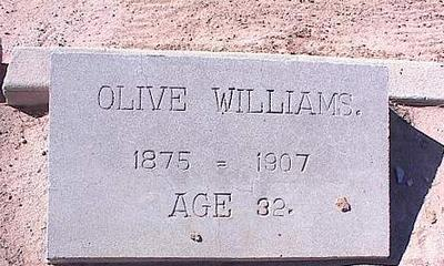 WILLIAMS, OLIVE - Pinal County, Arizona | OLIVE WILLIAMS - Arizona Gravestone Photos