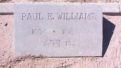 WILLIAMS, PAUL E. - Pinal County, Arizona   PAUL E. WILLIAMS - Arizona Gravestone Photos