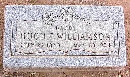 WILLIAMSON, HUGH F. - Pinal County, Arizona   HUGH F. WILLIAMSON - Arizona Gravestone Photos