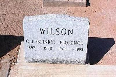 WILSON, C.J. [BLINKY] - Pinal County, Arizona | C.J. [BLINKY] WILSON - Arizona Gravestone Photos