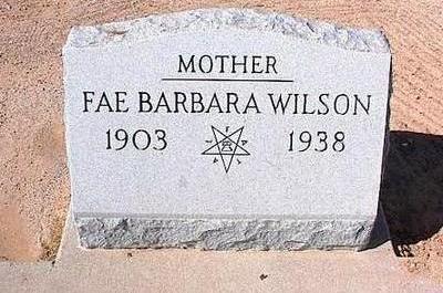 WILSON, FAE BARBARA - Pinal County, Arizona | FAE BARBARA WILSON - Arizona Gravestone Photos