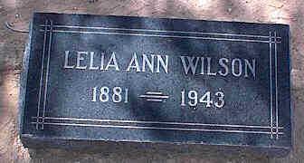WILSON, LELIA ANN - Pinal County, Arizona | LELIA ANN WILSON - Arizona Gravestone Photos