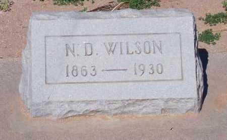 WILSON, N. D. - Pinal County, Arizona   N. D. WILSON - Arizona Gravestone Photos