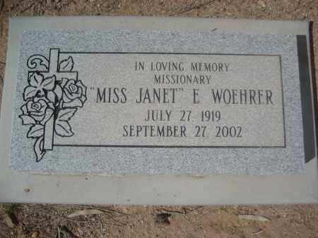 WOEHRER, JANET E. - Pinal County, Arizona | JANET E. WOEHRER - Arizona Gravestone Photos