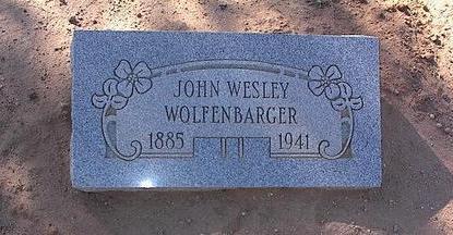 WOLFENBARGER, JOHN WESLEY - Pinal County, Arizona | JOHN WESLEY WOLFENBARGER - Arizona Gravestone Photos