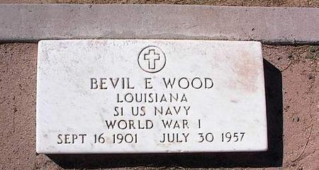 WOOD, BEVIL E. - Pinal County, Arizona | BEVIL E. WOOD - Arizona Gravestone Photos