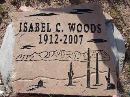 WOODS, ISABEL C. - Pinal County, Arizona | ISABEL C. WOODS - Arizona Gravestone Photos