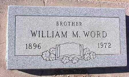 WORD, WILLIAM M. - Pinal County, Arizona   WILLIAM M. WORD - Arizona Gravestone Photos