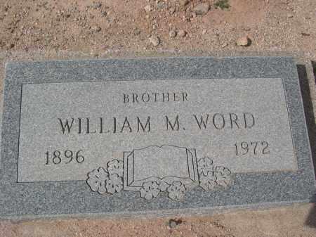 WORD, WILLIAM M. - Pinal County, Arizona | WILLIAM M. WORD - Arizona Gravestone Photos