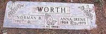 WORTH, ANNA IRENE - Pinal County, Arizona | ANNA IRENE WORTH - Arizona Gravestone Photos