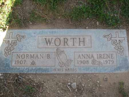 WORTH, NORMAN B. - Pinal County, Arizona | NORMAN B. WORTH - Arizona Gravestone Photos
