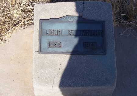 WRIGHT, JOHN B. - Pinal County, Arizona | JOHN B. WRIGHT - Arizona Gravestone Photos