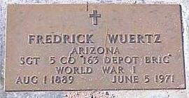 WUERTZ, FREDRICK - Pinal County, Arizona | FREDRICK WUERTZ - Arizona Gravestone Photos