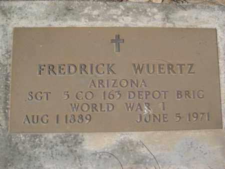 WUERTZ, FREDRICK - Pinal County, Arizona   FREDRICK WUERTZ - Arizona Gravestone Photos