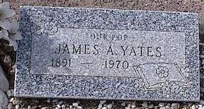 YATES, JAMES A. - Pinal County, Arizona | JAMES A. YATES - Arizona Gravestone Photos