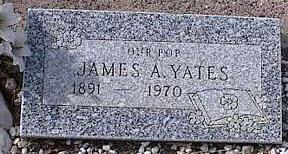 YATES, JAMES A. - Pinal County, Arizona | JAMES A. YATES - Arizona Gravestone Photos