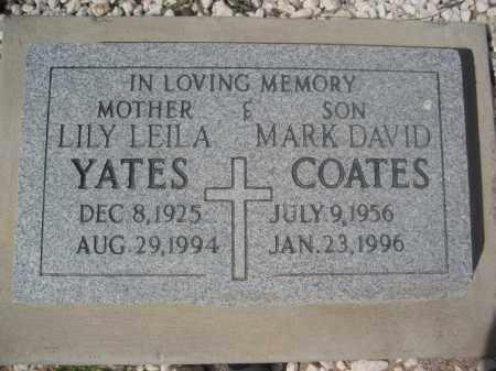 YATES, LILY LEILA - Pinal County, Arizona   LILY LEILA YATES - Arizona Gravestone Photos