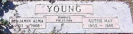 YOUNG, BENJAMIN ALMA - Pinal County, Arizona | BENJAMIN ALMA YOUNG - Arizona Gravestone Photos