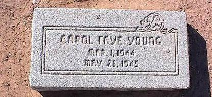 YOUNG, CAROL FAYE - Pinal County, Arizona | CAROL FAYE YOUNG - Arizona Gravestone Photos