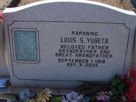 YUBETA, LOUIS S. - Pinal County, Arizona   LOUIS S. YUBETA - Arizona Gravestone Photos