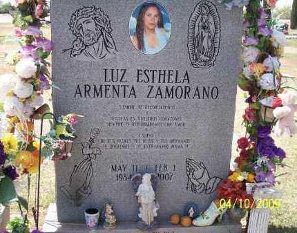 ARMENTA ZAMORANO, LUZ ESTHELA - Pinal County, Arizona | LUZ ESTHELA ARMENTA ZAMORANO - Arizona Gravestone Photos