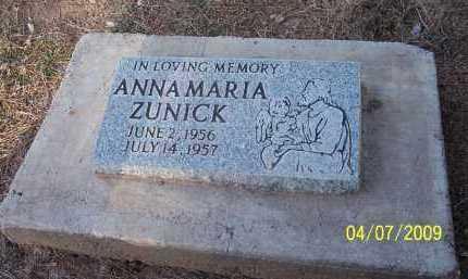 ZUNICK, ANNA MARIA - Pinal County, Arizona   ANNA MARIA ZUNICK - Arizona Gravestone Photos