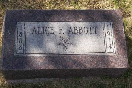 ABBOTT, ALICE F. - Santa Cruz County, Arizona | ALICE F. ABBOTT - Arizona Gravestone Photos