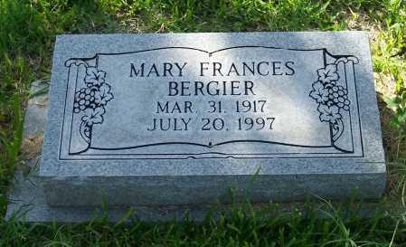BERGIER, MARY FRANCES - Santa Cruz County, Arizona | MARY FRANCES BERGIER - Arizona Gravestone Photos