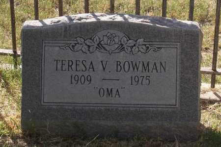 BOWMAN, TERESA V. - Santa Cruz County, Arizona   TERESA V. BOWMAN - Arizona Gravestone Photos