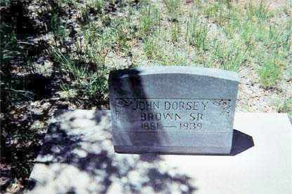 BROWN, JOHN DORSEY - Santa Cruz County, Arizona | JOHN DORSEY BROWN - Arizona Gravestone Photos