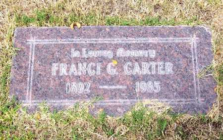 CARTER, FRANCI G. - Santa Cruz County, Arizona | FRANCI G. CARTER - Arizona Gravestone Photos