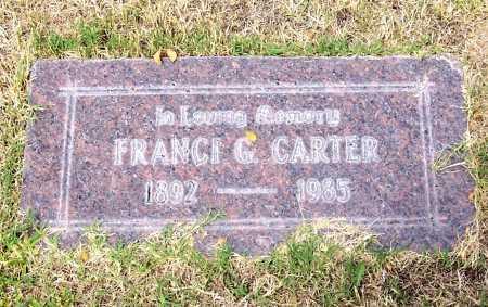 CARTER, FRANCI G. - Santa Cruz County, Arizona | FRANCI G. CARTER - Arizona Gravestone Photos
