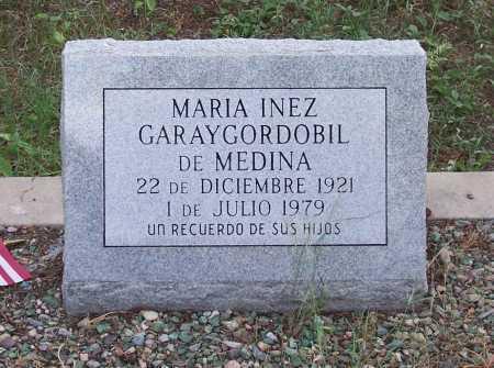 GARAYGORDOBIL DE MEDINA, MARIA INEZ - Santa Cruz County, Arizona | MARIA INEZ GARAYGORDOBIL DE MEDINA - Arizona Gravestone Photos