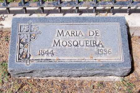 DE MOSQUEIRA, MARIA - Santa Cruz County, Arizona   MARIA DE MOSQUEIRA - Arizona Gravestone Photos