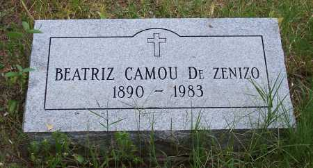 CAMOU DE ZENIZO, BEATRIZ - Santa Cruz County, Arizona | BEATRIZ CAMOU DE ZENIZO - Arizona Gravestone Photos