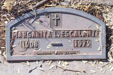 ESCALANTE, MARGARITA L. - Santa Cruz County, Arizona | MARGARITA L. ESCALANTE - Arizona Gravestone Photos