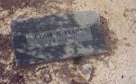 EVANS, CLAIR N. - Santa Cruz County, Arizona | CLAIR N. EVANS - Arizona Gravestone Photos