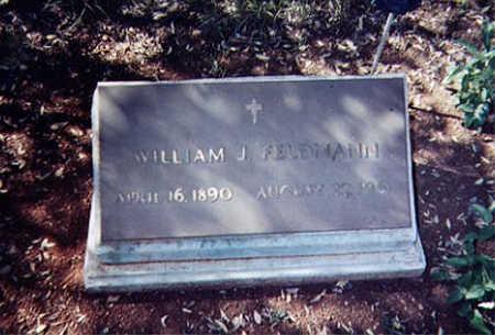 FELDMANN, WILLIAM J. - Santa Cruz County, Arizona   WILLIAM J. FELDMANN - Arizona Gravestone Photos