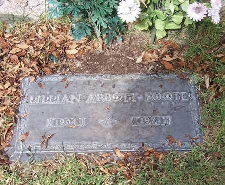ABBOTT FOOTE, LILLIAN - Santa Cruz County, Arizona   LILLIAN ABBOTT FOOTE - Arizona Gravestone Photos
