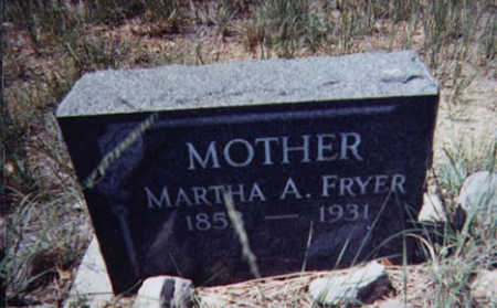 FRYER, MARTHA - Santa Cruz County, Arizona | MARTHA FRYER - Arizona Gravestone Photos