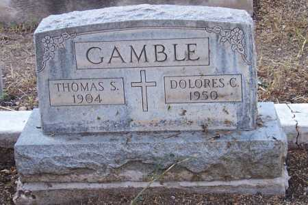 GAMBLE, THOMAS S. - Santa Cruz County, Arizona | THOMAS S. GAMBLE - Arizona Gravestone Photos