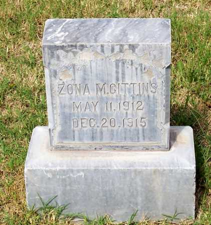 GITTENS, ZONA M. - Santa Cruz County, Arizona | ZONA M. GITTENS - Arizona Gravestone Photos