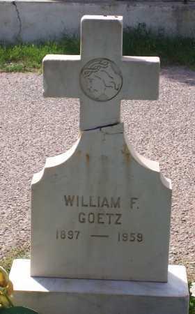 GOETZ, WILIAM F. - Santa Cruz County, Arizona | WILIAM F. GOETZ - Arizona Gravestone Photos