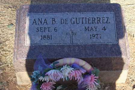 GUTIERREZ, DE, ANA B. - Santa Cruz County, Arizona | ANA B. GUTIERREZ, DE - Arizona Gravestone Photos