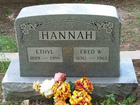 HANNAH, FRED W. - Santa Cruz County, Arizona | FRED W. HANNAH - Arizona Gravestone Photos