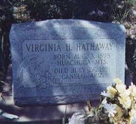 HATHAWAY, VIRGINIA - Santa Cruz County, Arizona | VIRGINIA HATHAWAY - Arizona Gravestone Photos