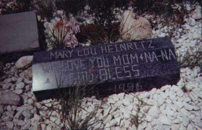 HEINRITZ, MARY LOU - Santa Cruz County, Arizona | MARY LOU HEINRITZ - Arizona Gravestone Photos